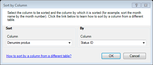 Power Pivot-Sort by column Status ID-Microsoft Excel 2013