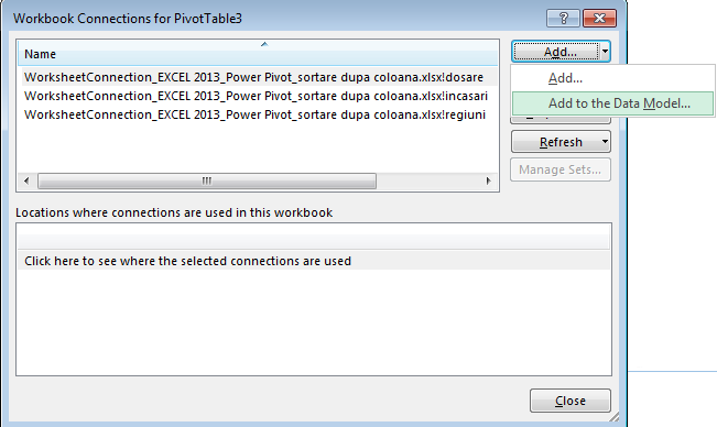 Power Pivot - Add to the Data Model - Microsoft Excel 2013